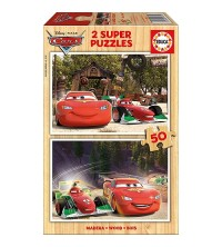 EDUCA - Puzzle bois 2*50 Cars 16372