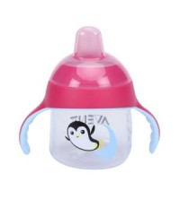 AVENT - TASSE A BEC PENGUIN ROSE 200ML