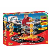 FAROTOYS - GARAGE 4 LEVELS + 2 CARS + TRACK - LIGHT IN THE DARK REF 804