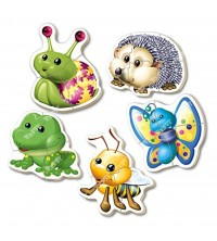 EDUCA - 5 Baby puzzles 'Animaux forêt' 15892