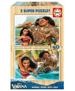 EDUCA - Puzzle bois 2*50 Vaiana 16950