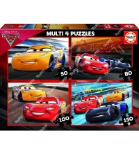 EDUCA - Multi-puzzles Cars 3 Ref 17179