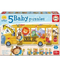 EDUCA - Baby puzzles 'School Bus' 17575