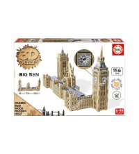 EDUCA - Puzzle bois 156pcs 3D Big Ben 16971