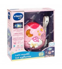 VTECH - Lumi mouton nuit enchantÚe rose