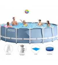 INTEX - PISCINE TUBULAIRE OVALE 4.57*1.07