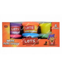 LETS - 6COLORS NEON PLAY DOUGH 600 GR. L8346