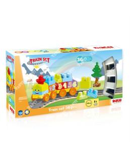 DOLU - Coffret Lego avec train 36pcs dans emballage imprimÚ