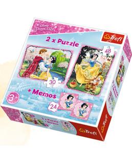 """TREFL - PUZZLE """"2EN1 + MEMO"""" PRINCESSE 90603"""