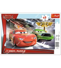 """TREFL - Puzzles - """"15 Frame"""" - Race to win the cup / Disney Cars 2 31230"""