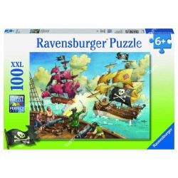 RAVENSBURGER - Puzzle 100pcs XXL Pirates 10666