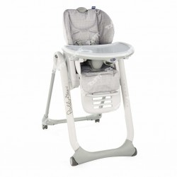 CHICCO - CHAISE HAUTE POLLY 2 HIGHCHAIR HAPPY SILVER