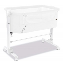 ASALVO - BED SIDE CRIB FOLD WHITE
