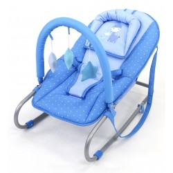 ASALVO - TRANSAT BABY BOUNCER GIRAFFES LIGHT-BLUE
