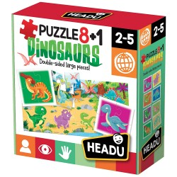 HEADU - Puzzle 8+1 Dinosaurs IT22243