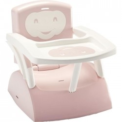 THERMOBABY - REHAUSSEUR DE CHAISE EVOLUTIF ROSE CLAIR/BLANC CASSE