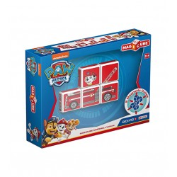 GEMOMAG - MAGICUBE PAW PATROL MARSHALL'S FIRE TRUCK