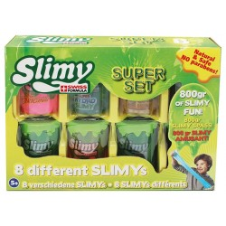 SLIMY - COFFRET SLIMY SUPER SET - 8 POTS * 100 GR- 800GR