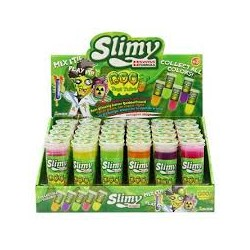 SLIMY - SLIMY TEST TUBE - 45 GR 5 COULEURS DISPLAY