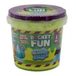 SLIMY - SLIMY BUCKET FUN - 1 KG - METALLIC SLIMY
