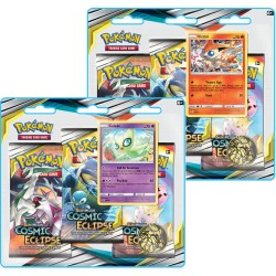 ASMODEE - PACK 3 BOOSTERS POKEMON SOLEIL & LUNE 12 ECLIPSE COSMIQUE