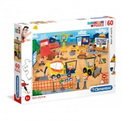 CLEMENTONI - MEN AT WORK - 60 PIECES - SUPERCOLOR PUZZLE