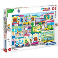 CLEMENTONI - IN THE CITY - 104 PIECES - SUPERCOLOR PUZZLE