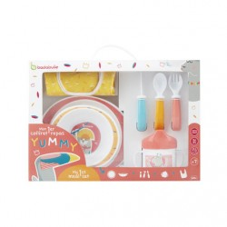 BADABULLE  - LUNCH SET YUMMY CORAIL - 7 PIECES