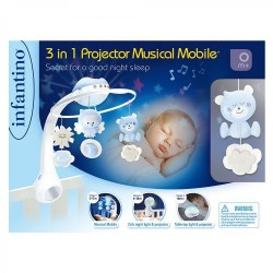 INFANTINO - 3 IN 1 PROJECTOR MUSICAL MOBILE