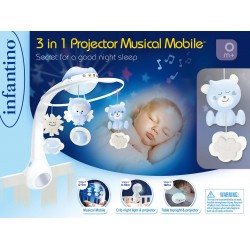 BLUE BOX - 3 IN 1 PROJECTOR MUSICAL MOBILE