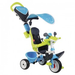 SMOBY - TRICYCLE BABY DRIVER CONFORT BLEU