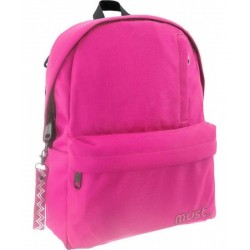 MUSTE - SAC A DOS MUST ROSE FONCE