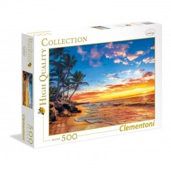 CLEMENTONI - PUZZLE HIGH QUALITY 500 PCS - PARADISE BEACH