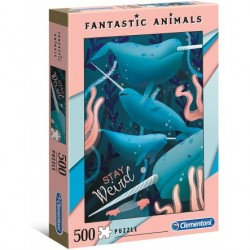 CLEMENTONI - PUZZLE  500 FANTASTIC ANIMALS