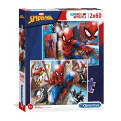 CLEMENTONI - PUZZLE S.COLOR 2X60 PCS  SPIDER MAN  REF 21608