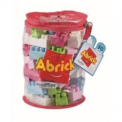 ECOIFFIER - SAC TUBE 50 PIECES ROSE/ ROUGE ASSORTIS - ABRICK 485486