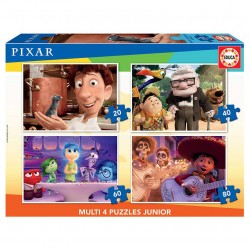 EDUCA - PUZZLE MULTI 4 EN 1 JUNIOR PIXAR 2