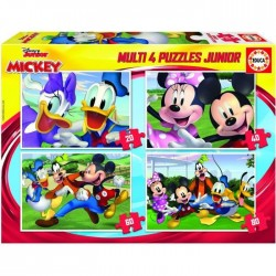 EDUCA - PUZZLE MULTI 4 EN 1 JUNIOR MICKEY, MINNIE ET LEURS AMIS