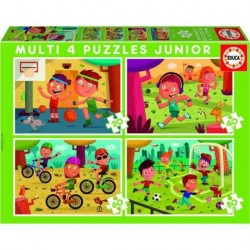 EDUCA - PUZZLE MULTI 4 EN 1 JUNIOR - SPORTS