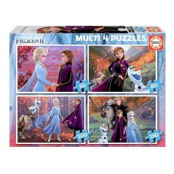 EDUCA - PUZZLE MULTI 4 EN 1 LA REINE DES NEIGES 2