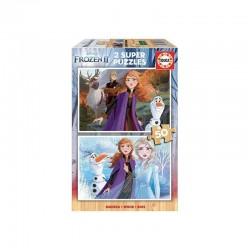 EDUCA - PUZZLE 2X50 LA REINE DES NEIGES 2