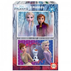 EDUCA - PUZZLE 2X20 LA REINE DES NEIGES 2