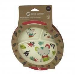 BEBE CONFORT - ASSIETTE D'APPRENTISSAGE AVEC COMPARTIMENTS - JUNGLE VIBES