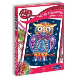 SENTHOSPHERE - ART & CREATIONS TABLEAU A DIAMANTER HIBOU