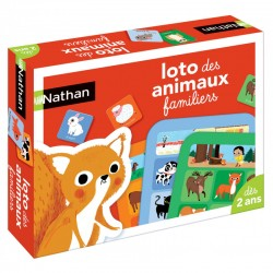 NATHAN - LOTO DES ANIMAUX FAMILLIERS