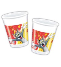 TOOPTY - 8 GOBLET PLASTIQUE  TOM&JERRY 81185