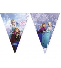 TOOPTY - 9 DRAPEAUX TRIANGLES BANNER FROZEN 8543