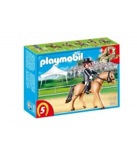 PLAYMOBIL - GERMAN SPORT HORSE WITH DRESSAGE RIDER AND STABLE