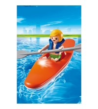 Kid with Kayak 6674