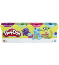 HASBRO - 4 POTS COULEUR PLAYDOH